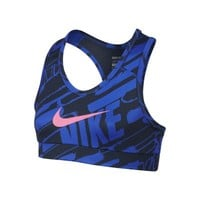 Nike Pro Hypercool Graphic Fitted Girls' Sports Bra - Hyper Cobalt