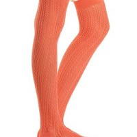 Lace-Trim Pointelle Over-the-Knee Socks by Charlotte Russe