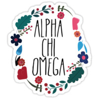 Alpha Chi Omega Flower Wreath by Margaret Young