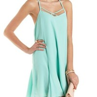 Strappy T-Back Shift Dress by Charlotte Russe