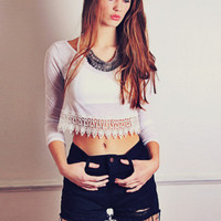 Easy Way Out Lace Top - One Left