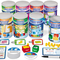 Math in a Flash! Discovery Cans - Gr. 4-5 - Complete Set at Lakeshore Learning