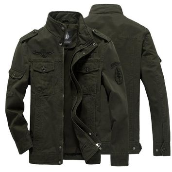 Trendy 2018 NEW Jacket man Plus Size M-5XL 6XL Men jacket jean military army cotton Air force one male Brand Spring Autumn Mens jackets AT_94_13