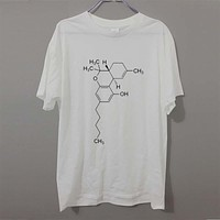 Cannabis - Weed - Dope Chemistry - THC Molecular Structure Men's T-Shirt