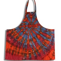 Fire and Ice Tie Dye Apron Red, Orange and Blue on Sale for $17.99 at The Hippie Shop