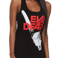 Evil Dead Chainsaw Logo Girls Tank Top   Hot Topic