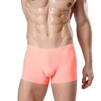 Seamless Nylon Boxer Underwear Sexy Fashion Ultra-thin Fashion Men Sexy Underwear Boxers Male Thin Shorts
