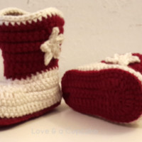 Crochet Cowboy Boots. You choose size and color. FREE SHIPPING from Love & a Cupcake