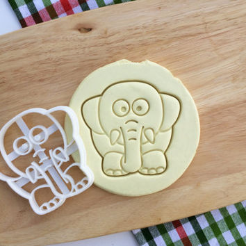 Elephant Cookie Cutter Zoo Animal Cookie Cutter Mammoth Cupcake topper Fondant Gingerbread Cutters - Made from Eco Friendly Material