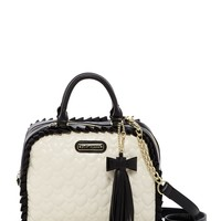Betsey Johnson | Be Mine Faux Leather Dome Satchel | Nordstrom Rack
