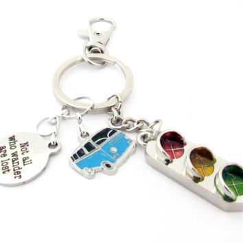 Hippie Van and Wanderlust Keychain