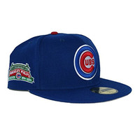 New Era 59Fifty Chicago Cubs Wrigley Sidepatch Grey Bottom Fitted In Royal 8