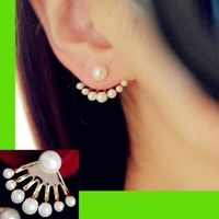 Pearl Rainbow Wrapping Ear Cuffs
