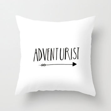 Minimalist Illustrated Typography Black and White Home Decor Throw Pillow Cover Decorative Pillow Home Accessory White Accent Pillow Cover