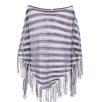 Sheer Lightweight Poncho Beach Coverup