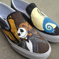 Custom Hand Painted Shoes  Nightmare Before Christmas by RyTee