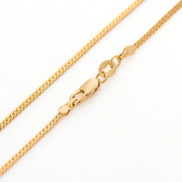60cm long 18K yellow gold plated Miami cuban snake chain for men women 24 inches 2mm 5g thin long gold  necklace & pendant