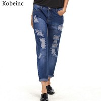*online exclusive* online exclusive ripped holes boyfriend jeans