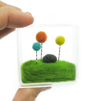 Miniature Terrarium Inspired by the Lorax, Orange and yellow Floral Home Decoration