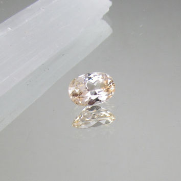 Champagne Sapphire Loose Faceted Gemstone for Engagement Ring Gift for Her Weddings