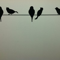 Birds On A Wire wall saying vinyl lettering art decal quote sticker home decal