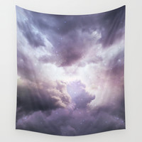 The Skies Are Painted II (Cloud Galaxy) Wall Tapestry by Soaring Anchor Designs