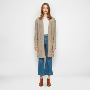 Ribbed Sweater Coat - Oatmeal
