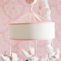 New Arrivals Song Bird in Pink Crib Mobile
