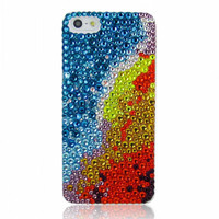 Ombre Faded Galaxy Rhinestone Handmade Phone Case For iPhone 5