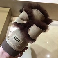 UGG Women Fashion Bow Snow Boots Half Boots Shoes