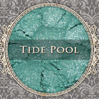 TIDE POOL Mineral Eyeshadow: 5g Sifter Jar, Light Teal Green, Vegan Cosmetics, Shimmer Eyeshadow