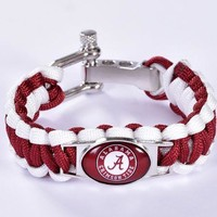 College - Alabama Crimson Tide Custom Paracord Bracelet