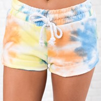 Me Time Tie-Dye Shorts (Multi)