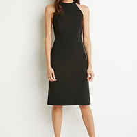 Side-Slit Sheath Dress