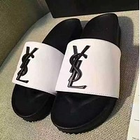 "Hot Sale ""YSL"" Summer Trending Women Casual Non-Slip Slipper Sandals Shoes White I11922-1"