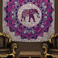 Bohemia Elephant Pattern Tapestry Muslim Style Tapestries Blanket Beach Towel Rectangle Cotton India Wall Hanging Home Decor