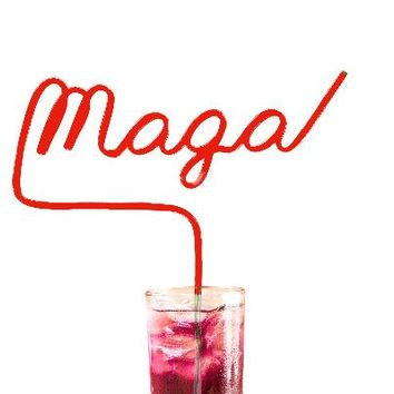 MAGA Extra Large Crazy Straw