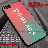 Stay Weird, Pink And Green Ombre, Quote, Alice In Wonderland, Stay Weird, Chesire, Mad Hater, case/cover for iPhone 4/4s/5/5c/6/6+/6s/6s+ Samsung Galaxy S4/S5/S6/Edge/Edge+ NOTE 3/4/5 #cartoon #anime #alice ii