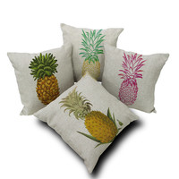 Pineapple Pattern Summer Fashion Style Lovely Women and Men Gift - Pillowcase  = 4697450436