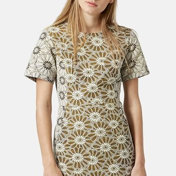 Women's Topshop Daisy Jacquard Dress,