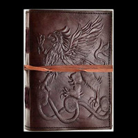 Gryphon Genuine Leather Blank Journal with cord