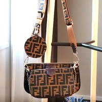 Fendi 2019 new double F letter wild female models mahjong bag three-piece