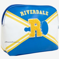 """Licensed cool Riverdale High School Varsity Cheer Cosmetic Makeup Bag Chenille """"R"""" Hot Topic"""