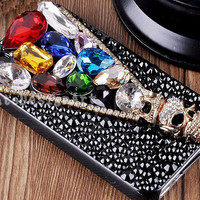 iphone 4s case, colorful crystal iphone 4 case iphone cover skin iphone 5 cover case - skull iphone 5 cases