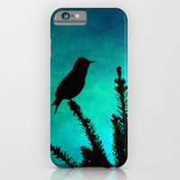 iPhone 6 case phone Teal Bird Silhouette art photography iPhone 3g 3gs 4 4s 5s 5c 6 6 plus iPod touch Samsung Galaxy S4 S5 bright colorful
