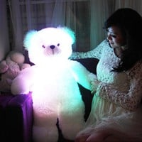 The Colorful Luminous Little Teddy Bear Plush Toy Doll