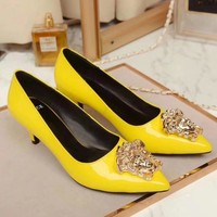 Versace Women Fashion Casual Pointed Toe High Heels Shoes-3