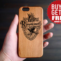 Ravenclaw Cherry Wood One Piece iPhone 6 6s Case , Custom iPhone 6s 6 Case Wood , Wood Phone Case for iPhone 6 6s  , Valentine's Gift