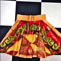 SWEET LORD O'MIGHTY! BURGER SK8R SKIRT