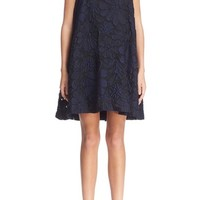 Victoria, Victoria Beckham Pleat Back Floral Jacquard Dress | Nordstrom